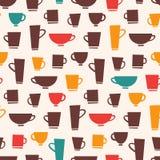 Teste padrão da caneca de café Fotografia de Stock Royalty Free