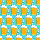 Teste padrão da caneca de cerveja ilustração royalty free