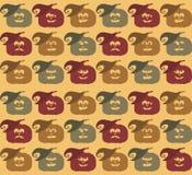 Teste padrão da cara da abóbora de Dia das Bruxas Fotos de Stock