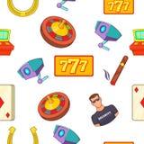 Teste padrão da casa de jogo, estilo dos desenhos animados ilustração do vetor