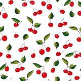 Teste padrão da cereja doce ilustração do vetor
