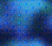 Teste padrão da ciência abstrata no fundo borrado Fotografia de Stock
