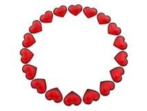 Teste padrão da circular dos corações Fotos de Stock