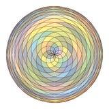 Teste padrão da circular que repete elementos do mosaico Ilustração do vetor Foto de Stock