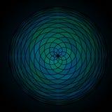Teste padrão da circular que repete elementos do mosaico Ilustração do vetor Imagens de Stock Royalty Free