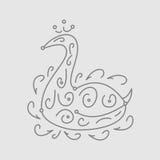 Teste padrão da cisne Imagem de Stock