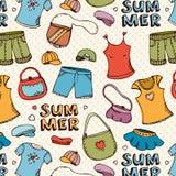 Teste padrão da compra da roupa do verão Foto de Stock