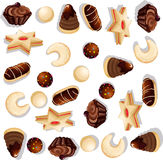 Teste padrão da cookie do Natal ilustração do vetor