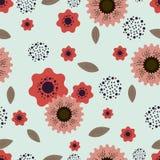 Teste padrão da cor com motivo floral para o projeto ilustração royalty free
