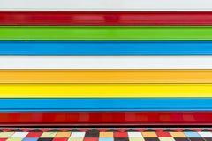 Teste padrão da cor de linhas horizontais Imagens de Stock
