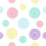 Teste padrão da cor pastel do círculo Imagem de Stock