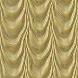 Teste padrão da cortina sem emenda do ouro Ilustração Stock