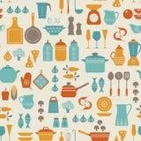 Teste padrão da cozinha ilustração stock
