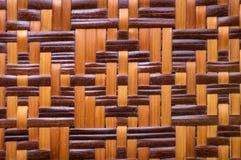Teste padrão da decoração com tecelagem de bambu fotos de stock