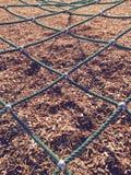 teste padrão da diagonal da corda do gym do campo de jogos Imagens de Stock
