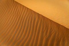 Teste padrão da duna de areia Fotografia de Stock