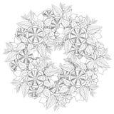 Teste padrão da elegância com flores Imagens de Stock Royalty Free