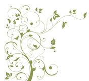 Teste padrão da flor e da árvore Imagens de Stock