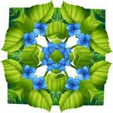 Teste padrão da flora ilustração royalty free