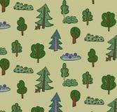 Teste padrão da floresta das árvores Imagem de Stock