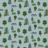Teste padrão da floresta das árvores Imagens de Stock