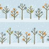 Teste padrão da floresta do inverno Fotos de Stock Royalty Free