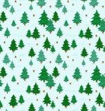 Teste padrão da floresta do inverno Fotografia de Stock Royalty Free