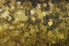 Teste padrão da folha de ouro Fotos de Stock