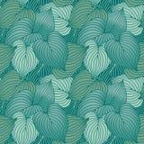 Teste padrão da folha do Hosta em azul esverdeado Fotografia de Stock Royalty Free