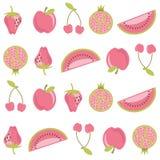 Teste padrão da fruta ilustração royalty free