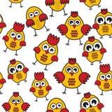 Teste padrão da galinha ilustração royalty free