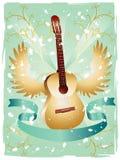 Teste padrão da guitarra de Grunge Imagem de Stock Royalty Free