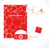 Teste padrão da identidade corporativa Foto de Stock Royalty Free