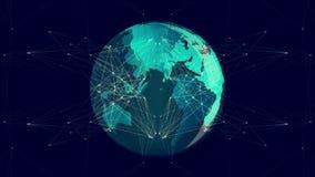Teste padrão da imagem invertida que move-se sobre o gráfico da terra ilustração royalty free