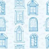 Teste padrão da janela vintage ilustração stock