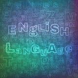 Teste padrão da língua inglesa ilustração stock