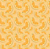 Teste padrão da laranja do vetor Fotos de Stock