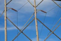 Teste padrão da linha elétrica Imagem de Stock Royalty Free