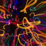 Teste padrão da luz do borrão de movimento. Fotografia de Stock Royalty Free