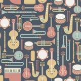Teste padrão da música ilustração stock