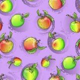 Teste padrão da maçã do vetor Imagens de Stock Royalty Free