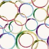 Teste padrão da mancha do círculo da aquarela Fotografia de Stock Royalty Free
