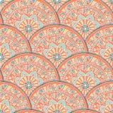 Teste padrão da mandala da flor Foto de Stock