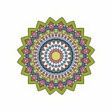 Teste padrão da mandala da garatuja de Boho Isolado Ilustração do vetor Imagem de Stock