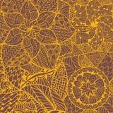 Teste padrão da mandala da flor dentro Foto de Stock