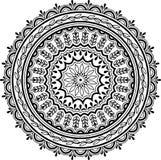 Teste padrão da mandala preto e branco Imagens de Stock Royalty Free
