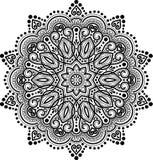Teste padrão da mandala preto e branco Imagem de Stock