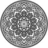 Teste padrão da mandala preto e branco Foto de Stock