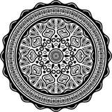 Teste padrão da mandala preto e branco Imagens de Stock