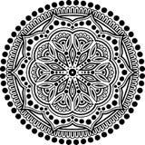 Teste padrão da mandala preto e branco Imagem de Stock Royalty Free